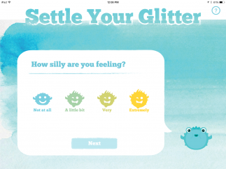 After selecting their emotion, kids decide whether they are extremely or just a little bit emotional.