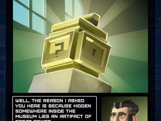 The game's goofy museum caper backstory is plenty of fun.