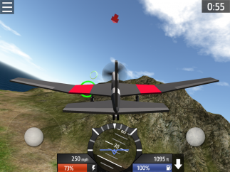 Flight simulation is simple, clean, and easy to learn, though it's difficult to master.