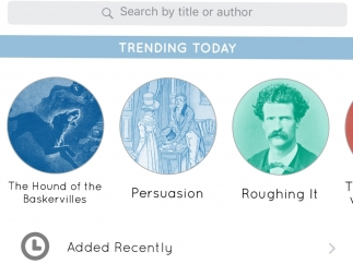 Add new books by searching or viewing what's popular.