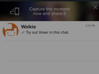 Helpful how-to text walks users through their first time using the app.