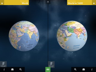 Dual map viewer allows students to compare maps.