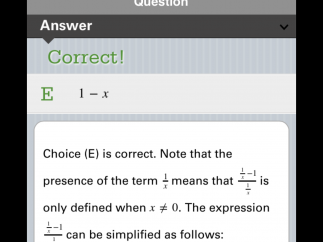 Feedback is detailed, especially for math questions, where each step is explained.