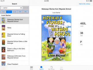 Search and sort books by reading level.
