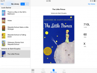 Scanning and searching are easy; tap to add info about individual books.