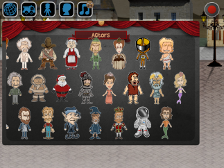 Users can choose avatars from a range of historical figures or create a custom character.