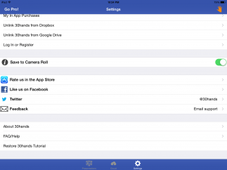 Users can easily link the app to their Google Drive and Dropbox accounts.