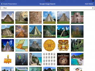 The built-in image search tool is also great: it nicely filters inappropriate content.