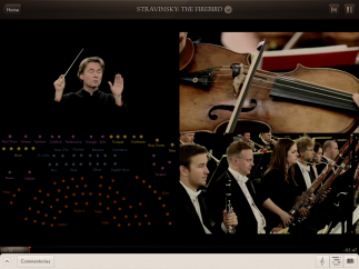 Tap anything to zoom, and view the orchestra from several angles as the group plays.