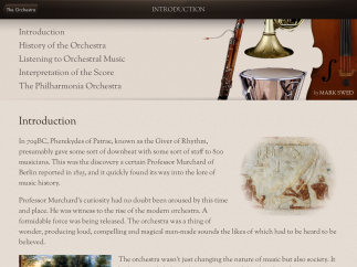 """The """"About the Orchestra"""" section is an especially good reference resource."""