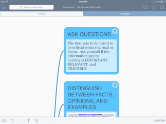Once users highlight text, they can turn their highlights into flashcards or a mindmap.