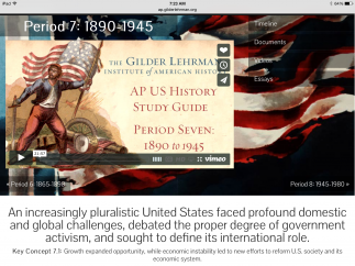 The AP U.S. History resource is the easiest way for students to dive in: Use this for review or regular study.