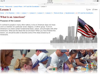 Users can explore discussion questions and some worksheets to learn more about the democratic process and U.S. history.