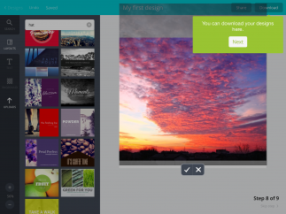 Import your own photos or use built-in images and templates.