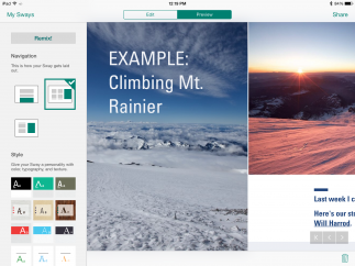 The app comes with several built-in projects with which users can explore and experiment.