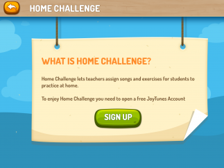 """The """"Home Challenge"""" section lets teachers assign practice homework and track student progress."""