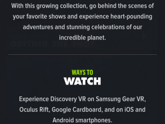 Discovery provides a quick introduction to the app.