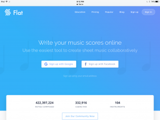 Flat is a site that lets users collaborate to create their own original sheet music.
