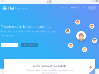 Built-in integration with Google Classroom makes Flat a good fit for music teachers.