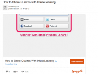 InfuseLearning user guides are comprehensive and easy-to-use.