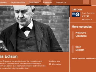 Radio broadcasts cover a wide-range of historical topics.