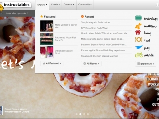 The Explore tab offers you multiple ways to browse the site's vast contents.