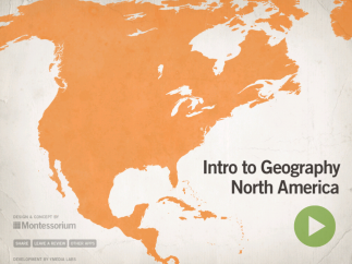 Kids can learn to identify the locations, shapes, and flags of North America's nations.