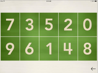Numbers are spoken by a narrator, then kids are encouraged to tap and trace them.