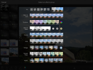 Photo-editing features are extensive and go far beyond those available in the camera roll.
