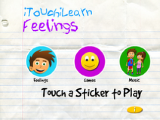 Choose from feelings, six mini-games, or a sing along.