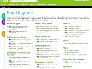 Students can practice over 100 of the 4th grade skills.