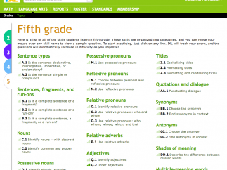 Students can practice over 70 of the 5th grade skills.