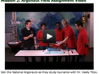 Student Argonauts are integrally involved in JASON videos and explorations.