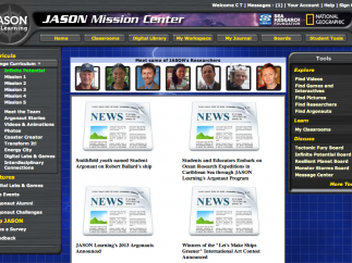 The student home page has lots of links and information, although assignment information doesn't automatically display.