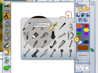 A wide range of drawing tools let kids make their own assets, but many are not available with the free account.