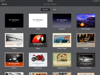 A range of customizable themes, fonts, and styles are available.