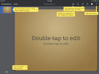 Help text overlays offer in-depth guidance to important features and useful shortcuts.