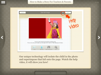 Easy-to-use photo editing software in-app makes it super-easy to take just the kids' image from a picture to use in the books.