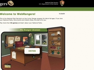 Many of the games are hosted on external sites, such as this National Park Service site.
