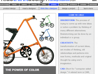 The Products page provides a featured concept; in this case, the importance of color in shaping spending decisions.