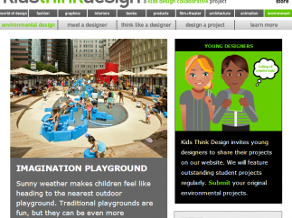 The Environment page invites submissions from kids, and introduces a landscape designer.