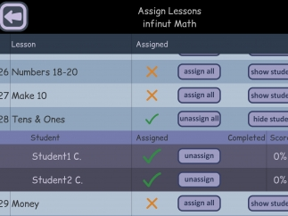 Assign topics to individual students.