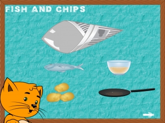 Kids can fry fish and chips.