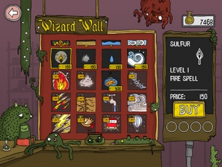 At the Wizard's Wall, kids can use coins to purchase magic spells.