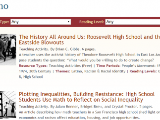 Teaching activities for middle and high school students.
