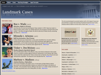 Landmark Cases of the Supreme Court features details on 17 key SCOTUS cases.