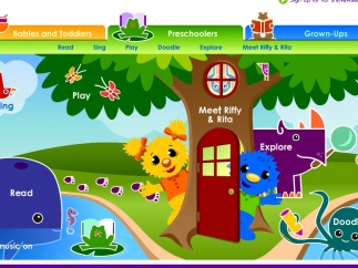The site is a reading-related activity collection targeted to preschoolers.