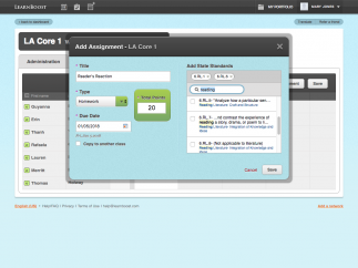 Create standards-based assignments in minutes and easily copy across classes.