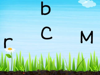 In a simple hunt and tap game, kids must tap the correct letter.