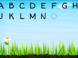 Listen to the alphabet song as you watch each letter appear when its name is called.